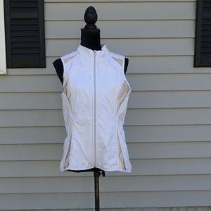 Athleta white running reflective vest size M
